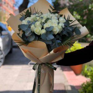 ankara beyaz güller sipariş aynı gün teslim